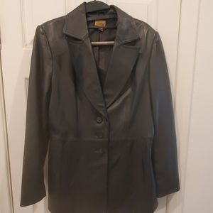 Black Leather Blazer: Great Condition